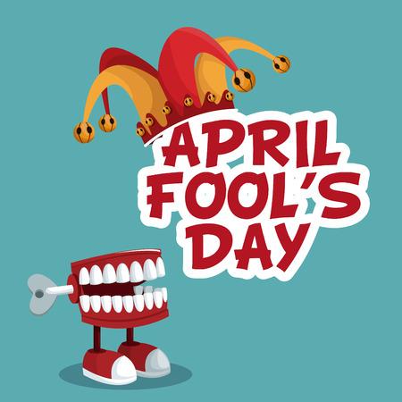 april fools day funny poster vector illustration eps 10 Illustration
