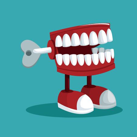 april fools day teeth practical joke vector illustration eps 10