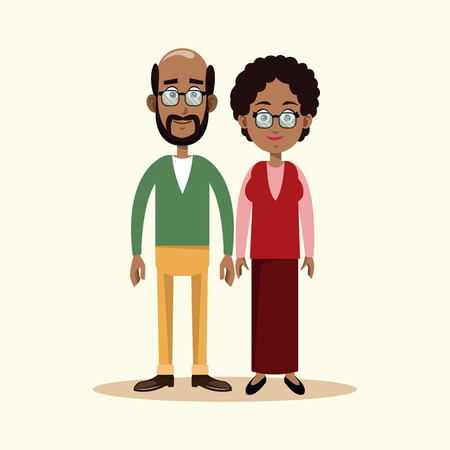 couple grandparents family image vector illustration eps 10