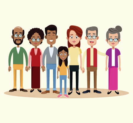 group family different multicultural vector illustration eps 10 Illustration
