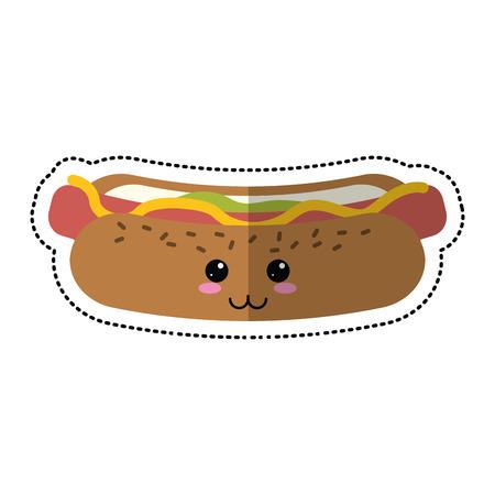 cartoon hot dog fast food