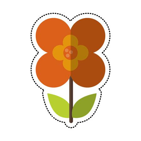 cartoon buttercup flower natural vector illustration eps 10