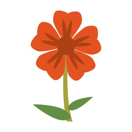 geranium flower natural image vector illustration eps 10