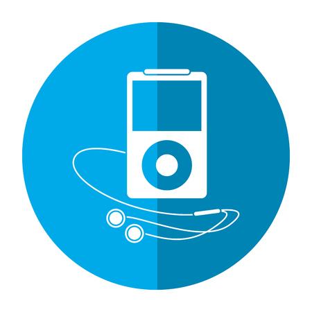portable audio: mp3 player headphones image vector illustration eps 10 Illustration