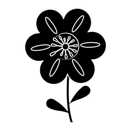 petunia flower decoration silhouette vector illustration eps 10