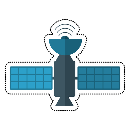 cartoon satellite antenna communication wireless vector illustration eps 10
