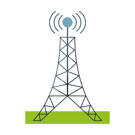 antenna tower broadcast connection vector illustration eps 10 Illustration