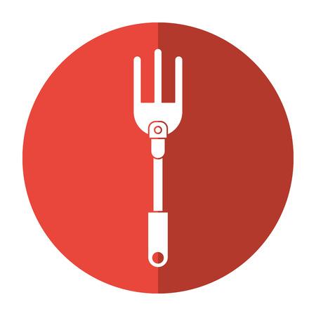 garden fork handle shadow vector illustration eps 10