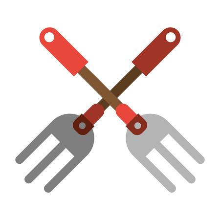 garden fork handle image vector illustration eps 10