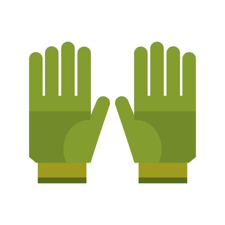work clothes: gardening gloves protection icon vector illustration eps 10