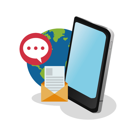 instant messaging related icons image vector illustration design 일러스트