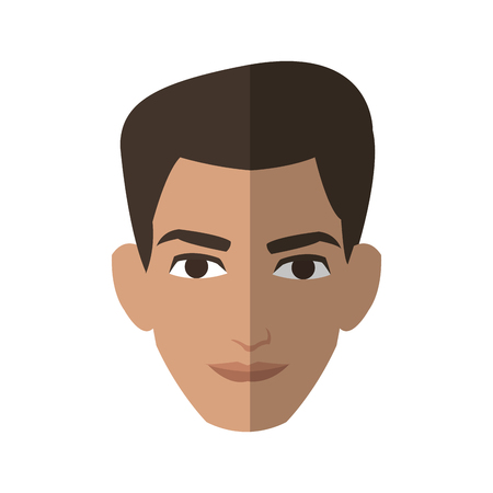 good looking man face cartoon icon over white background. colorful design. vector illustration