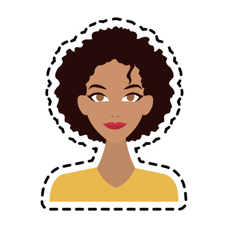 face of young pretty olive skin woman icon image vector illustration design Illustration
