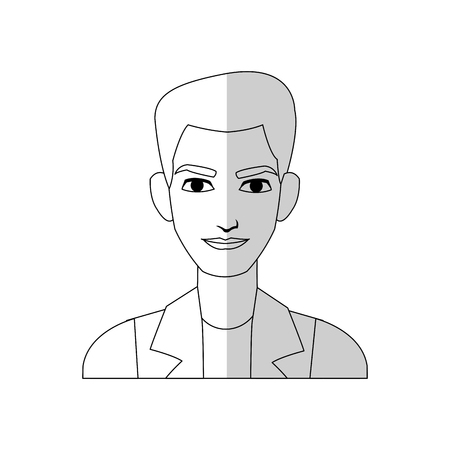 Good looking man cartoon icon over white background. vector illustration