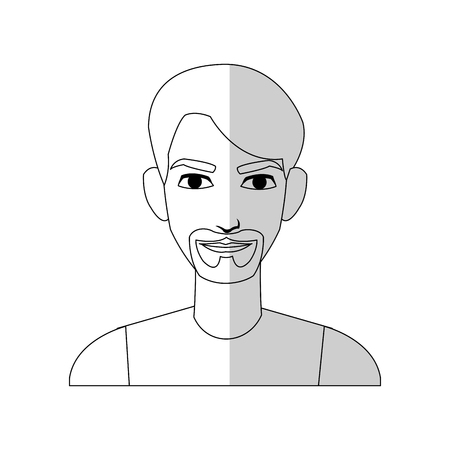 good looking man cartoon icon over white background. vector illustration Illustration