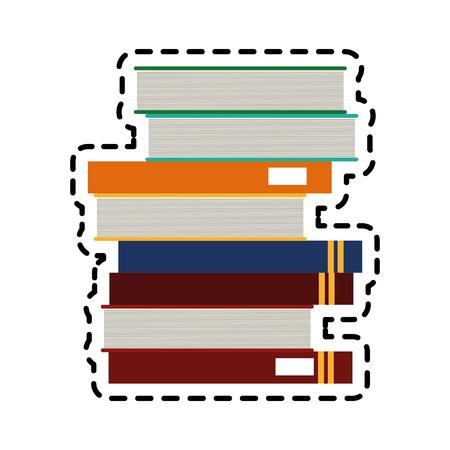 pile of books icon image vector illustration design