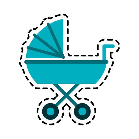 bébé icône poussette vecteur image illustration conception
