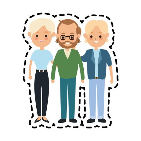people or family members icon image vector illustration design Illustration