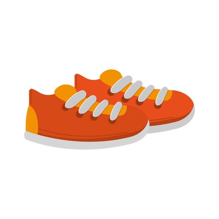 sport shoes icon over white background. colorful design. vector illustration Illustration