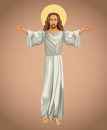 jesus christ religious image vector illustration eps 10
