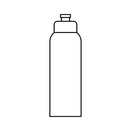 purified: sport bottle icon over white background. vector illustration