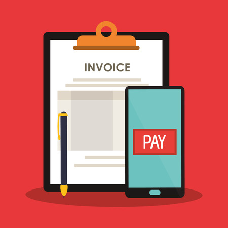 payable: invoice economy related icons image vector illustration design
