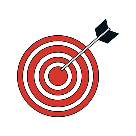 bullseye target icon image vector illustration design