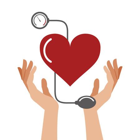 heart pressure healthcare symbol vector illustration eps 10