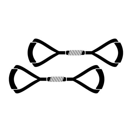 equipment gym fitness tool pictogram vector illustraion eps 10