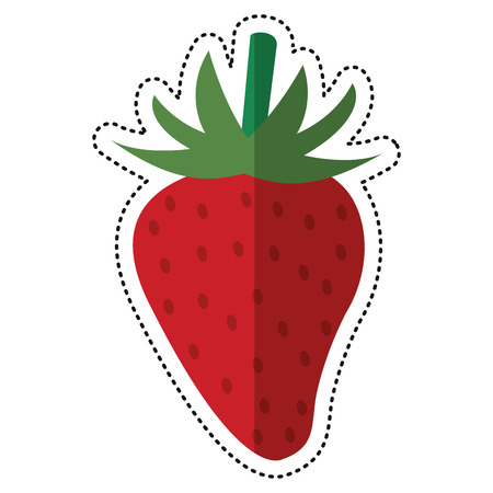 cartoon strawberry nutrition healthy image vector illustration eps 10 Illustration