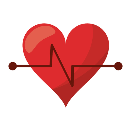 heart beat fitness symbol vector illustration eps 10 Illustration