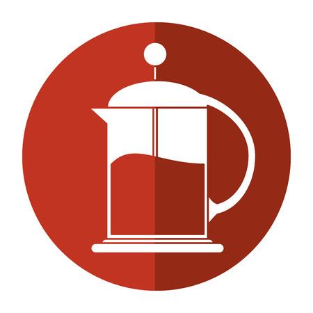 Franse pers koffiezetapparaat schaduw vector illustratie eps 10 Stockfoto - 74463684