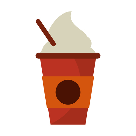cold coffee cup portable vector illustration eps 10
