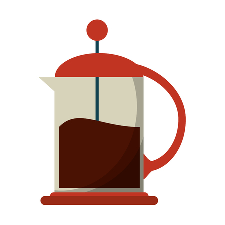 french press coffee maker vector illustration eps 10 Иллюстрация