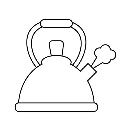 Ketel fluitende hete drank overzicht vector illustratie eps 10