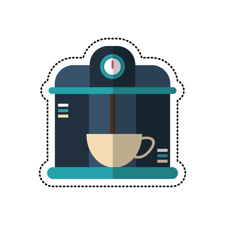cartoon macine coffee maker cup vector illustration eps 10