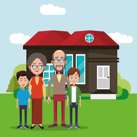 family members house image vector illustration eps 10 Illustration