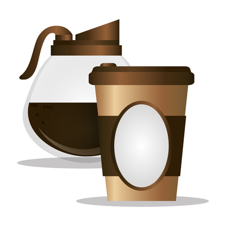 paper coffee cup maker glass vector illustration eps 10