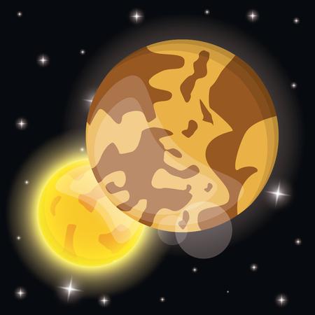 mercury sun solar system vector illustration eps 10