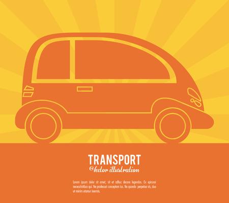 transport car future vehicle design vector illustration