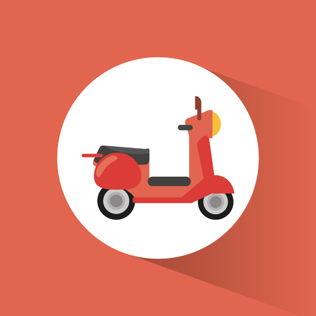 Scooter transport vehicle image vector illustration