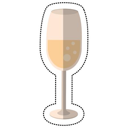 blanks: Wedding glass cup drink vector illustration Illustration
