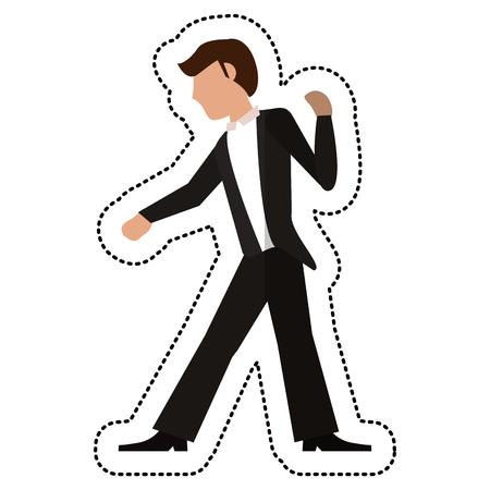 Groom wedding standing image vector illustration Illustration