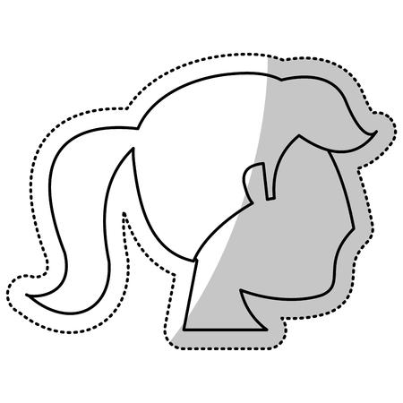 head woman bride wedding outline vector illustration eps 10