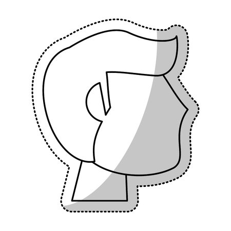 chrome man: head man groom wedding outline vector illustration eps 10