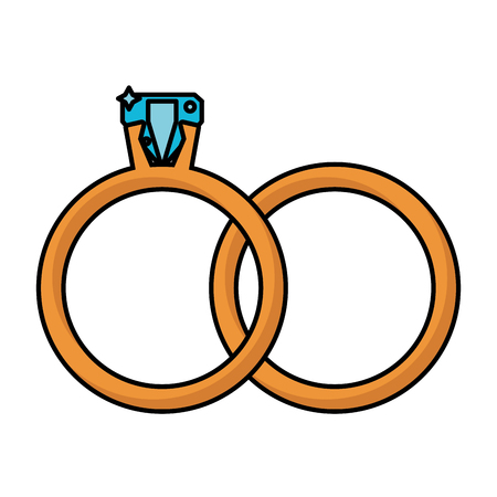 rings jewelry wedding symbol vector illustration eps 10