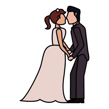 couple wedding love image vector iillustration eps 10 Illustration