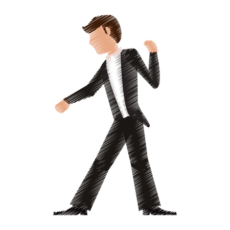 drawing man groom image vector illustration eps 10 Illustration