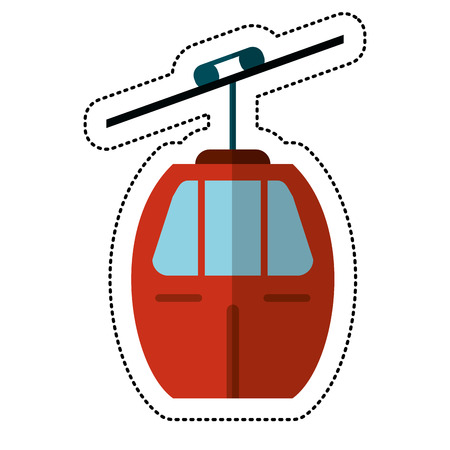 cable car transport shadow vector illustration