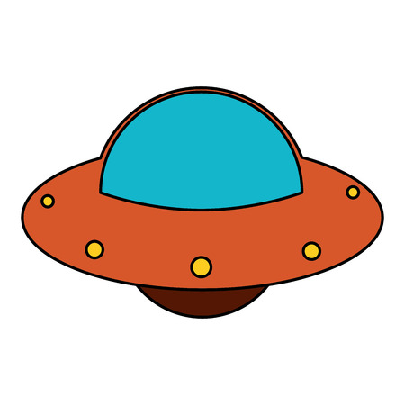 UFO spaceship fly image vector illustration eps 10